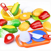 Transer® Toys for Kids - 12PC Cutting Fruit Vegetable Pretend Play - Children Learning Education Toy Gift