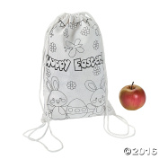 Colour Your Own Easter Drawstring Backpacks