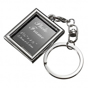 Stainless Steel Insert Photo Frame Fashion Keychain by Grocery House