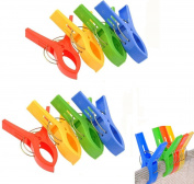 Vivian Durable Plastic Large Beach Towel Clips Clothespins/ Laundry Clips Set of 8PCS