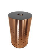 Brushed Copper Laundry Bin & Hamper | 50L Ventilated Stainless Steel Clothes Basket With MDF Lid | Life Time Warranty|