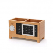 Fenleo Wooden Creative Calendar Pen Holder Storage Box Desktop Stationery Fashion Multifunctional Box