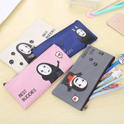 Katoot@ Kawaii stationery Cute No face man school pencil case creative zipper stationery pouch bags for students office school supply