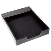 Black Leather Document Tray