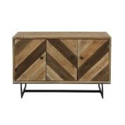 Benzara 47923 Antique Colonial Alluring Wood Cabinet
