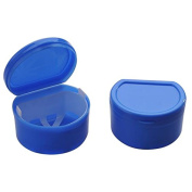 Zorvo Dental Orthodontic Retainer Denture Storage Case Box Mouthguard Container Tray