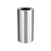 Safco Products Single Bin Waste Recycling Receptacle, 102.2l, Silver