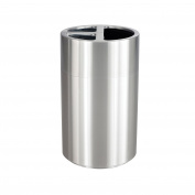 Safco Products Triple Bin Waste Recycling Receptacle, 151.4l, Silver