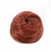 Henna Red Hair Cone Up Do Hairpiece   Drawstring Hair Bun   Clip in Henna Red Top Knot