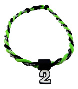 Pick Your Number - Twisted Titanium Sports Tornado Necklace