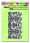 Stampendous Stampendous Cling Stamp 17cm x 11cm Decorative Border, Acrylic, Multicolour