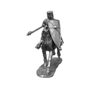 Equestrian Knight Hours Rider UnPainted Tin Metal 54mm Action Figures Toy Soldiers Size 1/32 Scale for Home Décor Accents Collectible Figurines ITEM #6012KE