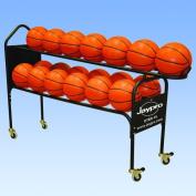 Jaypro Deluxe 2 Tier Basketball Rack