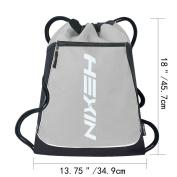 HEXIN Cinch Sack Basic Drawstring Tote Sport Bag for Teens College School Sackpack