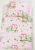 4 Piece Travel Set/Scatter Filled 17-18 Inner & Cover Pink Owl Design