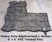 Heavy Duty Repl. L-Screen 1.8m x 1.8m #42 Twine Batting Cage Baseball Pitching Net