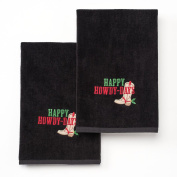 """""""Happy Howdy-Days"""" Holiday Hand Towels 2-Pack"""