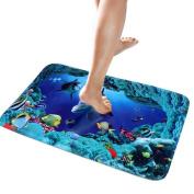 Bath Rug,Leegor Antiskid 3D Floor Decal Cartoon Ground Stickers Removable Waterproof Home Decor
