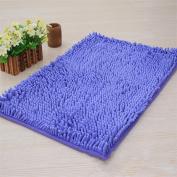 Acamifashion Bathrom Mats,Non-slip Bath Mat Bathroom Mats Shaggy Shower Rugs 40*60 CM - Violet
