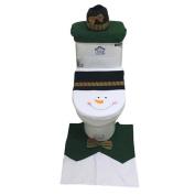 Kemilove 3PCS Set Home Christmas Toilet Foot Pad Seat Cover Radiator Cap Bathroom Sets