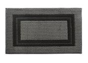 Y & K Decor Soft and Absorbent Non-Slip Bath Rug Dark Grey