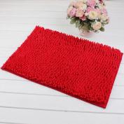 Lopkey Microfiber Soft Bathroom Floor Mat/Shower Rug - 41cm X 60cm Red