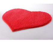 Lopkey Personalised Mats Romantic Red Heart Shaped High-grade Chenille Custom Floor Mats Living Room Bedroom Doormat Bathmat