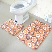 Bath Rug,Leegor 2PCS Rug Memory Foam Bathroom Rug Mat Floor Carpet Set