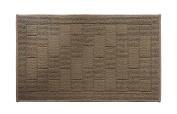 Y & K Decor Brick Pattern Soft and Absorbent Non-Slip Bath Rug Brown