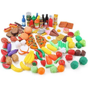 Liberty Imports 120 Piece Deluxe Pretend Play Food Assortment Set by Liberty Imports