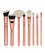 Professional Rose Golden 8pcs Cosmetic Foundation Makeup Brushes Set with Opp Bag