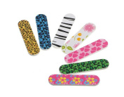 Pack of 10 Mini Cute Washable Double Sided Emery Board Colourful Eva Nail File Cosmetic Manicure Pedicure Nail Buffering Files