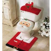 Ieasycan Santa Toilet Seat Cover Bathroom Mat And Rug Set , Set Of 3 Pcs