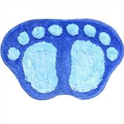 Absorbent Soft Wool Carpet Bath Bathroom Bedroom Floor Shower Mat Rug Non-slip #Blue