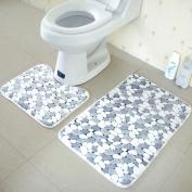 Bath Mats, Leoy88 2PCS Rug Memory Foam Bathroom Rug Mat