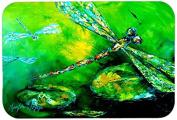 "Caroline's Treasures MW1114JCMT ""Dragonfly Summer Flies"" Kitchen or Bath Mat, 60cm by 90cm , Multicolor"