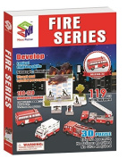 The 3D Jigsaw Fire Series, 119 Pieces by magic-puzzle