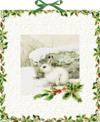 Coppenrath Christmas Winter Rabbit Traditional German Advent Calendar 41 cm wide x 46 cm glitter gold foil and hanging ribbon