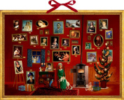 Coppenrath The Art Gallery Huge Traditional German Advent Calendar 58 cm wide x 42 cm