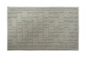 Y & K Decor Brick Pattern Soft and Absorbent Non-Slip Bath Rug Grey