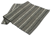 Chardin Home - Iris Rug, 50cm x 90cm mat made with finest Cotton & Rayon Chenille Yarns, Greys & White