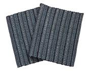 Chardin Home - Iris Rug, 50cm x 90cm mat made with finest Cotton & Rayon Chenille Yarns, Blue Tonal