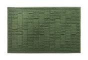 Y & K Decor Brick Pattern Soft and Absorbent Non-Slip Bath Rug Moonstone Colour
