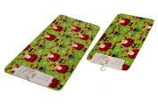 Christmas Bath Mat Memory Foam Rug Santa Claus 2 Sizes 43cm x 60cm & 50cm x 90cm PVC Backing
