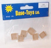 base toys accessories british pallets for lorry 1.76 railway scale by basetoys