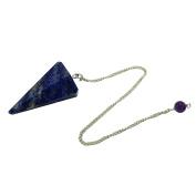 Harmonise Lapis Lazuli Stone 6 Sided Cone Pendulum Dowsing Reiki Healing CrystalGemstones Gift
