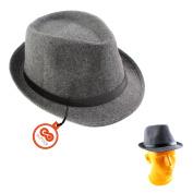 Unisex Fedoras and Trilby Hat British Jazz Cap Bowler Cloche Hat Vintage Bucket Hat