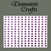 169 x 4mm Lilac Diamante Self Adhesive Rhinestone Body Vajazzle Gems - created exclusively for Diamante Crafts