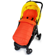 XXL Large Luxury Foot-muff And Liner For Mamas And Papas Armadillo - Orange