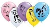 Childrens Latex Printed Balloons | Farm Animal Assortment, 25 [Toy] by Qualatex